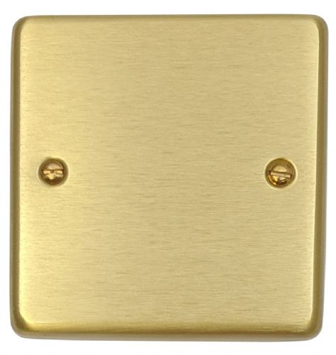 G&H CSB31 Standard Plate Satin Brushed Brass 1 Gang Single Blank Plate